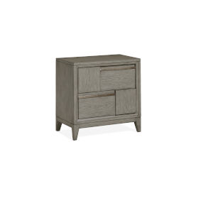 Atelier Nouveau Grey And Palladium Wood Drawer Nightstand