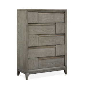 Atelier Nouveau Grey And Palladium Wood Drawer Chest