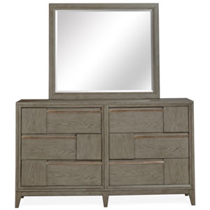Atelier Nouveau Grey And Palladium Double Drawer Dresser