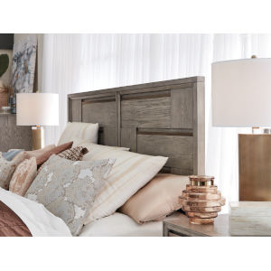 Atelier Nouveau Grey And Palladium Queen Panel Bed Headboard