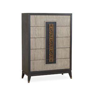Ryker Nocturn Black and Coventry Gray Drawer Chest
