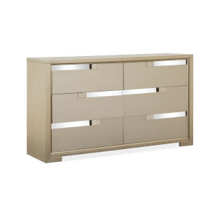 Chantelle Champagne Double Drawer Dresser