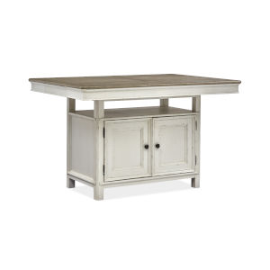 Bellevue Manor White and Brown Rectangular Pub Table