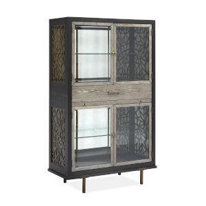 Ryker Black Display Cabinet