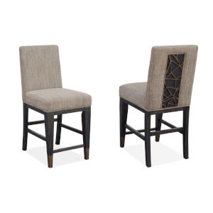 Ryker Black Dining Side Chair with Upholstered Seat