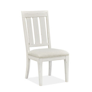 Hutcheson White Dining Side Chair with Upholstered Seat