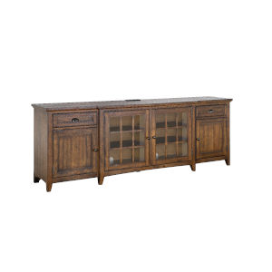 Bay Creek 90-Inch Brown Entertainment Console