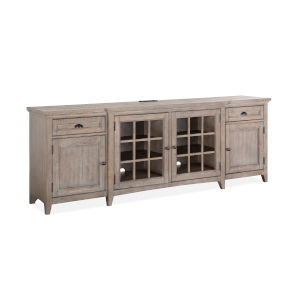 Paxton Place 90-Inch Gray Entertainment Console