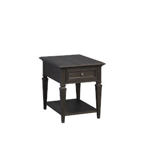 Calistoga Weathered Charcoal End Table