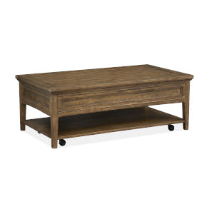 Bay Creek Toasted Nutmeg Rectangular Cocktail Table with Caster