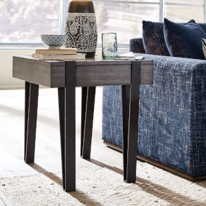Mavrick Foundry Grey End Table