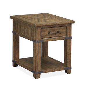 Chesterfield Timber And Forged Iron End Table