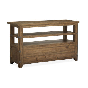 Chesterfield Timber And Forged Iron Sofa Table