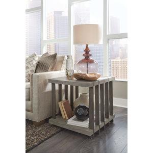 Eldridge Gray Rectangular End Table