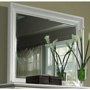 Ashby Patina White Landscaped Mirror