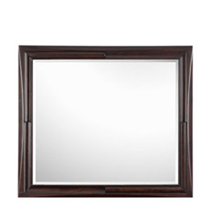 Fuqua Black Cherry Landscape Mirror