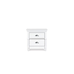 Kasey Wood Two Drawer Nightstand