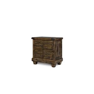 Brenley Natural Umber Wood Three Drawer Nightstand