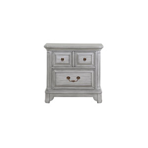 Windsor Lane 2 Drawer Nightstand in Weathered Grey