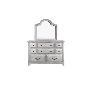 Windsor Lane 8 Drawer Dresser in Weathered Grey
