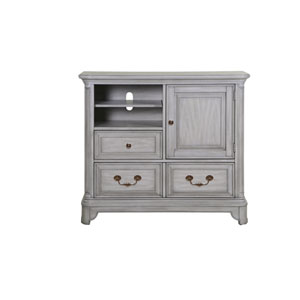 Windsor Lane 2 Drawer Media Chest in Weathered Grey