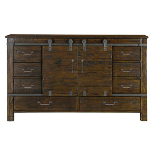 Pine Hill Sliding Door Dresser