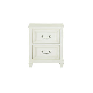 Brookefield 2 Drawer Cotton White Nightstand