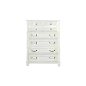 Brookefield 5 Drawer Cotton White Chest