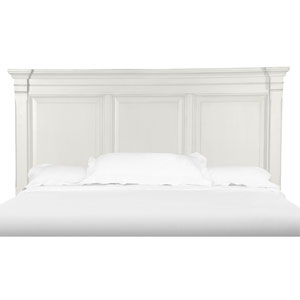 Brookefield Cotton White Panel Bed Headboard - Queen