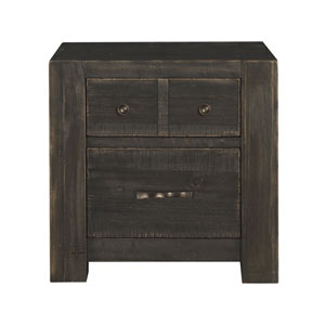 Easton 2 Drawer Nightstand in Dark Chocolate