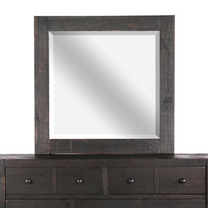 Easton Landscape Mirror in Dark Chocolate