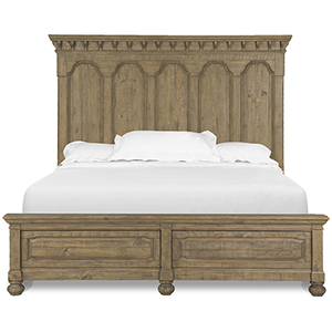 Graham Hills Complete King Panel Bed in Cracked Wheat