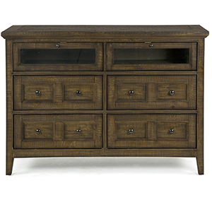 Bay Creek Relaxed Traditional Toasted Nutmeg Media Chest