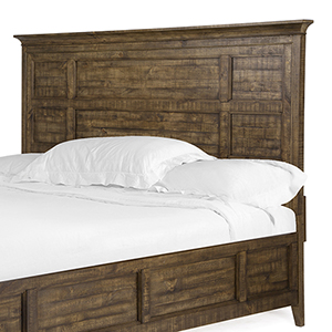 Bay Creek Relaxed Traditional Toasted Nutmeg Queen Panel Bed Headboard
