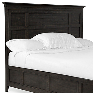 Westley Falls Relaxed Traditional Graphite Queen Panel Bed Headboard