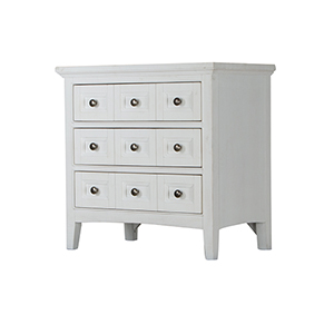 Heron Cove Relaxed Traditional Soft White 3 Drawer Nightstand