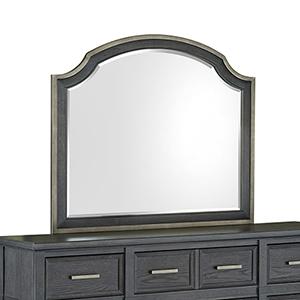 Grafton Avenue Transitional Shaped Mirror in Midnight Mink