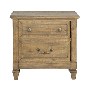 Crestview Traditional Rustic Belgian Wheat 2 Drawer Nightstand