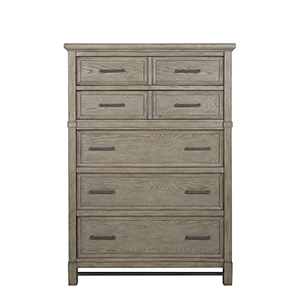 Leyton Park Transitional 5 Drawer Chest in Weathered Sand