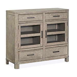 Leyton Park Transitional 4 Drawer Media Chest in Weathered Sand