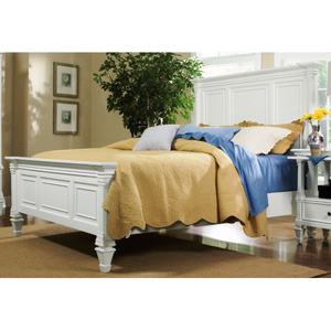Ashby Patina White Full Panel Bed