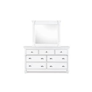 Kasey Wood Seven Drawer Dresser with Landscape Mirror
