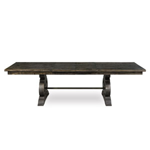 Bellamy Deep Weathered Pine Wood Rectangular Dining Table