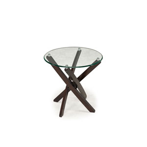 Xenia Espresso Round End Table