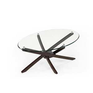 Xenia Espresso Oval Cocktail Table