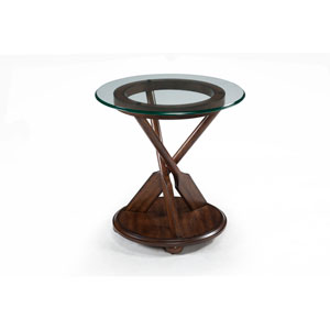 Beaufort Dark Oak Round End Table