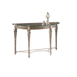 Galloway Glass Sofa Table w/ Glass Top