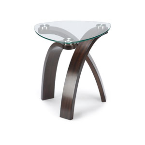 Allure Glass and Glass Oval End Table