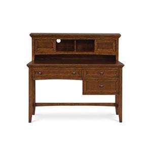 Riley Cherry Three Drawer Desk w/ Hutch