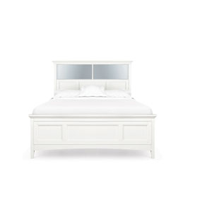 Kenley White Full Bookcase Bed